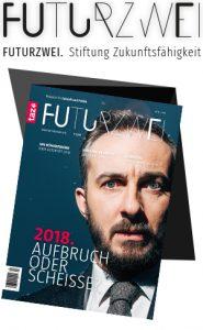 Titelblatt einer Zeitschrift namens Futurzwei