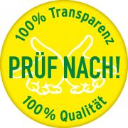 gelbes Logo mit weißen Händen