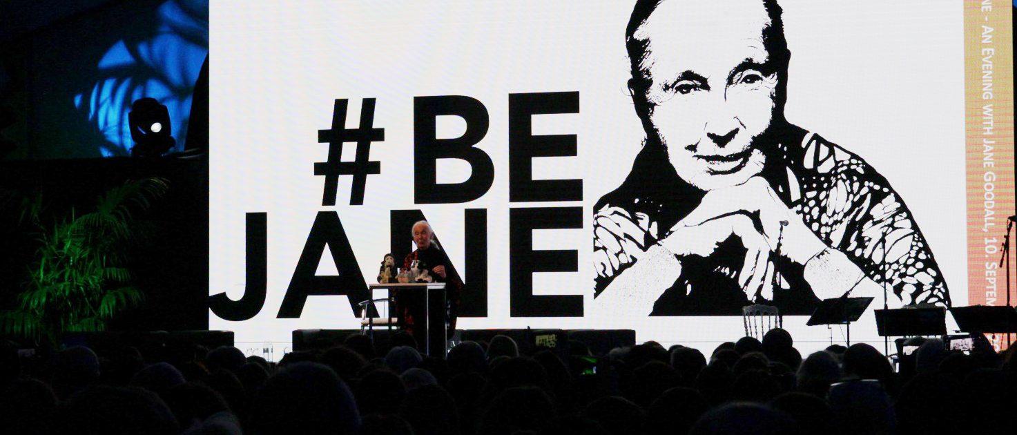 Bühne mit Jane Goodall