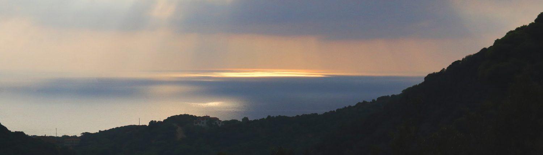 Sonnenuntergang über Meer