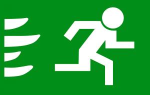 Zeichen für Notausgang